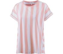 T-Shirt altrosa / weiß