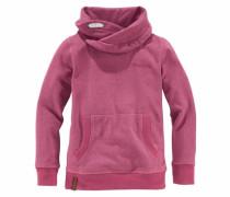 Sweatshirt mit Schalkragen pink