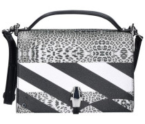 'Crazy Print Leo' Mini Bag 18 cm schwarz / weiß