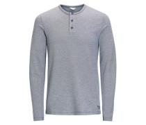 Lässiges T-Shirt mit langen Ärmeln blau