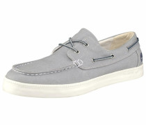 Newport Bay 2 Eye Boat Oxford Schnürschuh grau