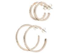 2er-Pack Reifen-Ohrringe gold