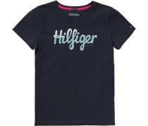 T-Shirt für Mädchen Organic Cotton dunkelblau