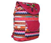Rucksack im Ethno-Stil mischfarben / pink