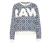 Sweatshirt 'rc' navy / weiß