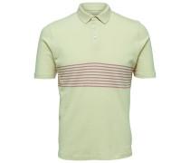 Gestreiftes Poloshirt hellgelb / weiß