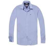 Hilfiger Denim Hemd 'thdm Basic REG Dobby Shirt L/S 11' hellblau