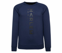 Mi-Chael-J Sweatshirt mit Logo blau