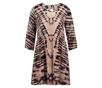 Print-Dress aus Viskose beige