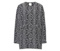 Mantel mit modischem Muster dunkelblau / weiß