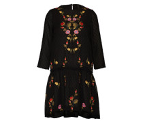 Kleid mit Stickerei 'yasmolia' schwarz