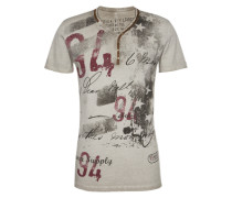 Shirt 'MT Legendary button' grau / silbergrau / mischfarben