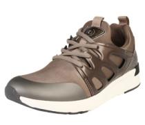 Sneaker mit dämpfender Laufsohle hellbraun
