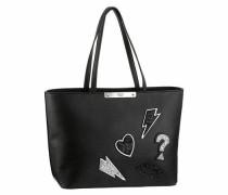 Shopper 'britta' schwarz / weiß