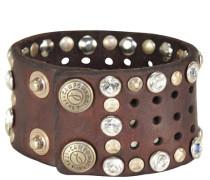 Armband 'Bracciali Santorini' mit Nietenbesatz braun