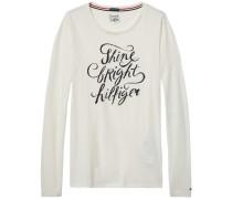 Homewear »Lulu shimmer cn tee ls« schwarz / weiß