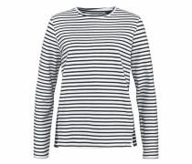 Langarmshirt 'Siv' dunkelblau / weiß