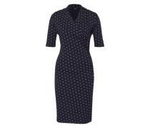 Kleid mit Print blau