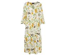 Kleid 'floressa' creme / gelb / grün