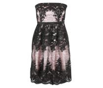 Kurzes Kleid mit Spitzendetails pink