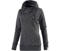 Beat Print Organic Sweatshirt Damen grau