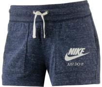 'Gym Vintage' Shorts Damen blaumeliert