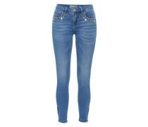 Skinny Fit Jeans 'Kendell Zoe Ankle Zip' blue denim