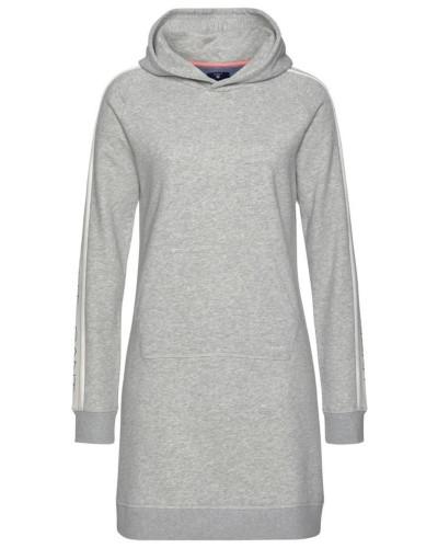 Sweatkleid graumeliert / schwarz / weiß