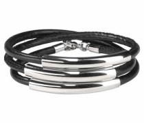 Wickelarmband silbergrau / schwarz