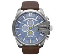 Chronograph »Mega Chief Dz4281« blau / dunkelbraun / gelb / silbergrau