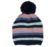 Gestrickte Mütze nitmalina blau / grau / pink