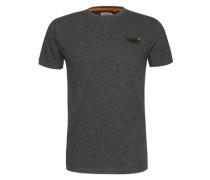 T-Shirt 'orange Label Vintage EMB Tee' dunkelgrau