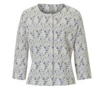Sweatshirt Jacke mit Muster perlweiß