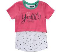 Set T-Shirt + Top für Mädchen grün / pink / weiß