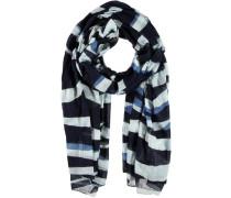 Baumwoll-Schal blau