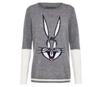 Wollpullover 'bugs bunny intarsia'