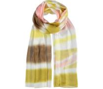 Seiden-Schal braun / gelb / senf / rosa