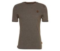 Shirt 'Borgward V' indigo / schlammfarben