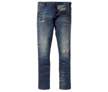 Slim-fit-Jeans 'Cole (Stretch)' blau