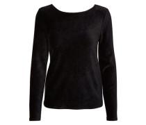 Langärmelige Bluse schwarz