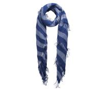 Gestreifter Schal blau