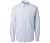 Oxford -Langarmhemd hellblau / weiß