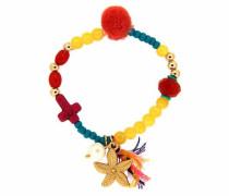 Armband »Sea Star 6319« dunkelgelb / gold / violettblau / dunkelorange / rosa / dunkelpink