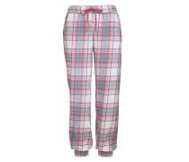 Schlafhose in Single-Jersey-Qualität hellblau / rosa / weiß