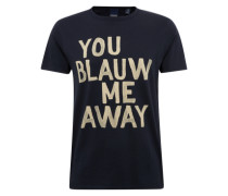 T-Shirt 'Ams Blauw tee with artwork'