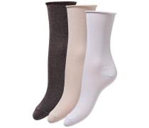 Glitzer Socken creme / anthrazit / weiß