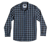 Langarm-Hemd »Everyday Check« blau