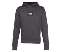 Sweatshirt 'M Fine Hoodie' dunkelgrau / weiß