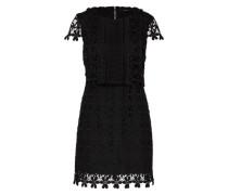 Kleid in Häkelspitze schwarz