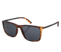 Kunststoffsonnenbrille 'Tweedledum' braun / schwarz